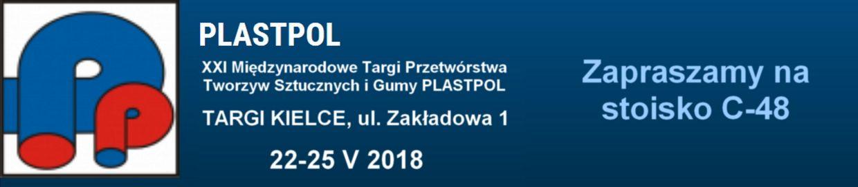 Plastpol XXI Międzynarodowe Targi Przetwórstwa Tworzyw Sztucznych i Gumy PLASTPOL Stoisko C-48